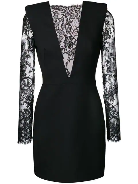 e16eae554cb6c Alexander Mcqueen Floral Lace And Wool-Blend Dress In Black | ModeSens