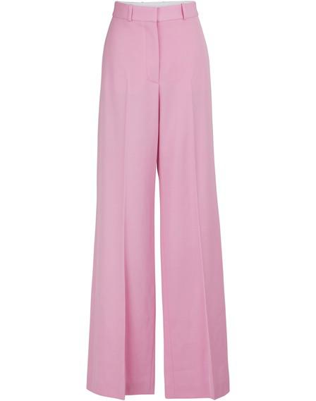 Stella Mccartney Wide-Leg Wool Pants In Pink