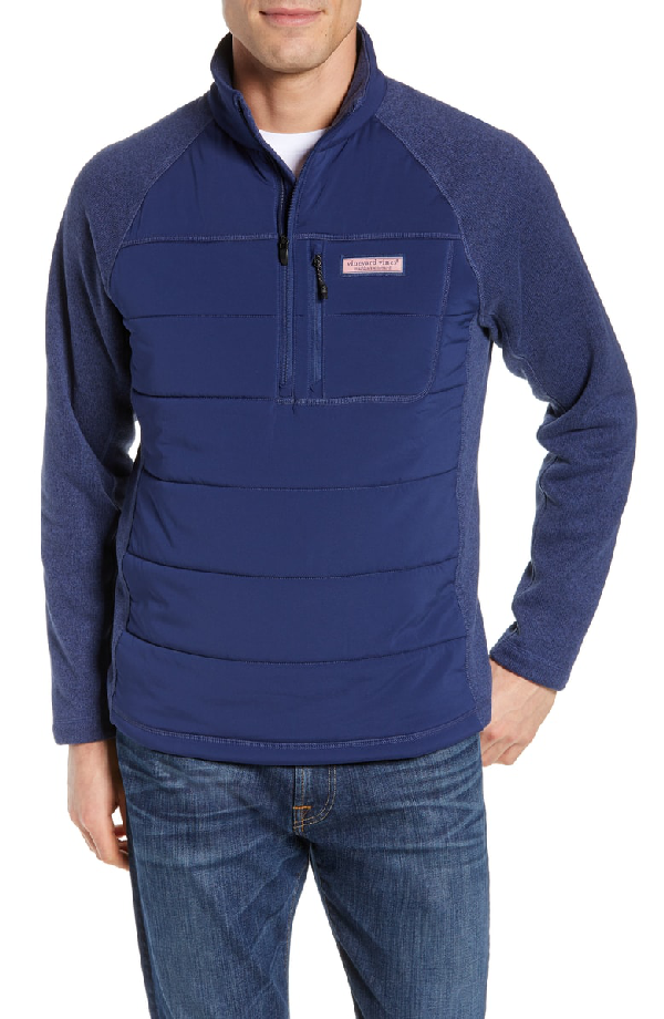Vineyard Vines Performance Mixed Media Quilted Fleece