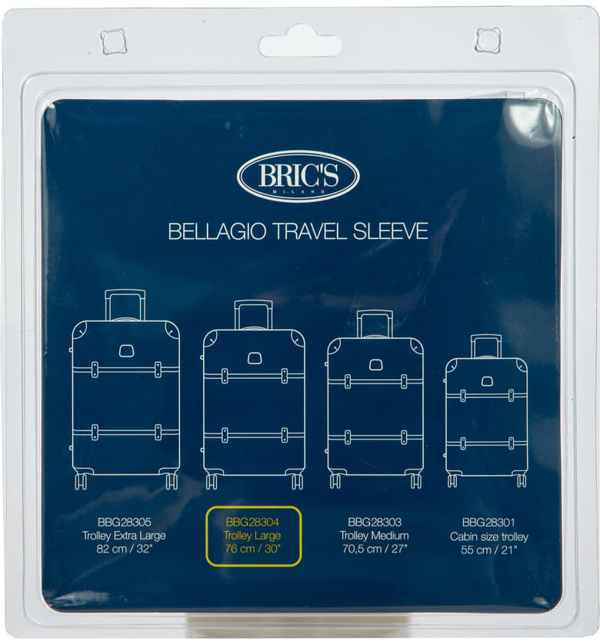 Bric's Transparent Custom Cover For 30-inch Bellagio Spinner Trunks In Clear