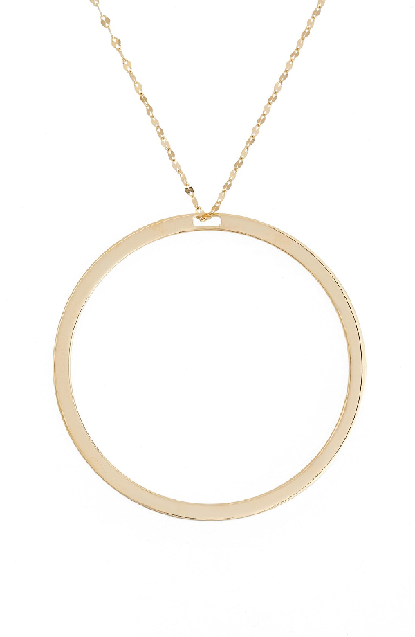 Lana Jewelry 'nude' Hoop Pendant Necklace In Yellow Gold