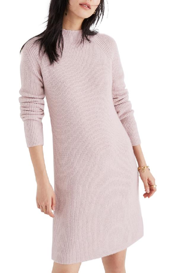 84d2851ed2cf Madewell Northfield Mock Neck Sweater Dress In Wisteria Dove | ModeSens