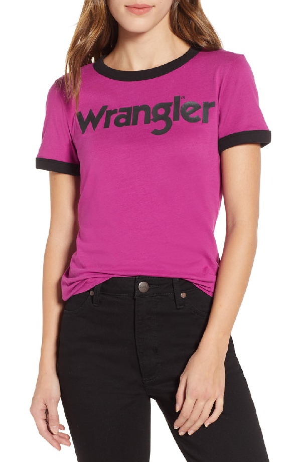 Ringer Tee in Aster Pink