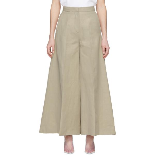 Stella Mccartney Wide Leg Trousers In 9700 - Beig