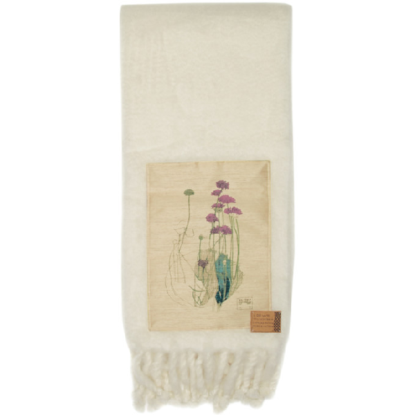 Loewe White Botanical Blanket In 2100 White