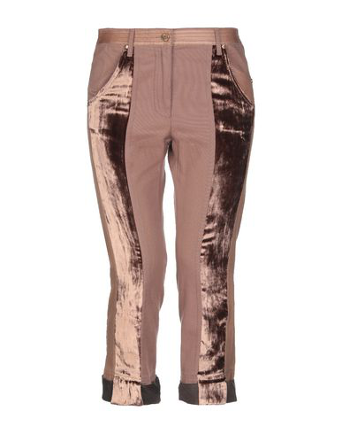 Roberto Cavalli Cropped Pants & Culottes In Light Brown
