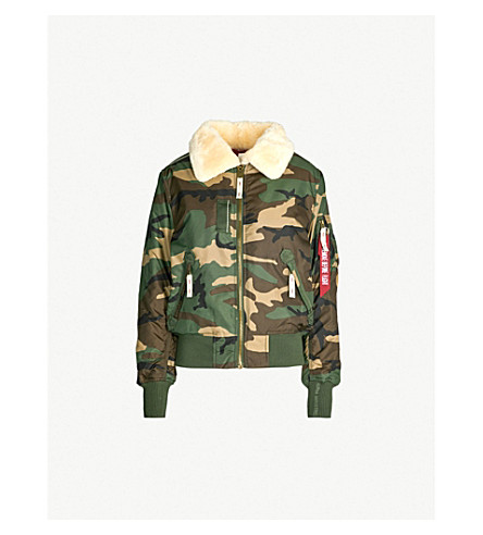 be4f6664f Injector Iii Padded Shell Bomber Jacket in Wood Camo