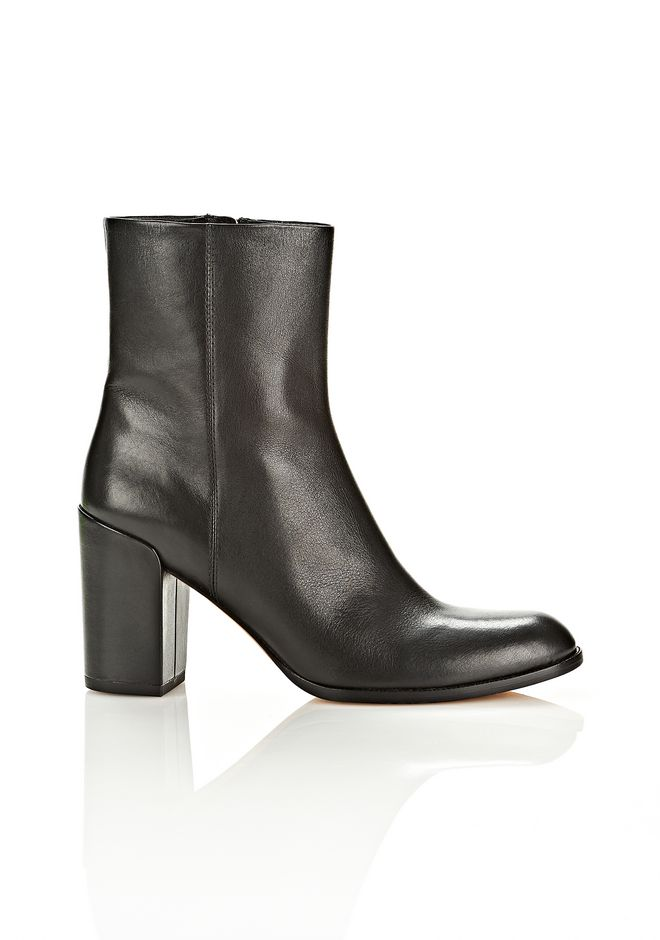 Alexander Wang Hana Leather Ankle Boot, Black