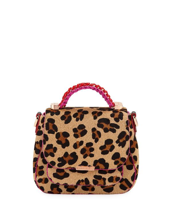 fd631283 Eloise Leopard-Print Crossbody Bag in Leopard / Fuschia