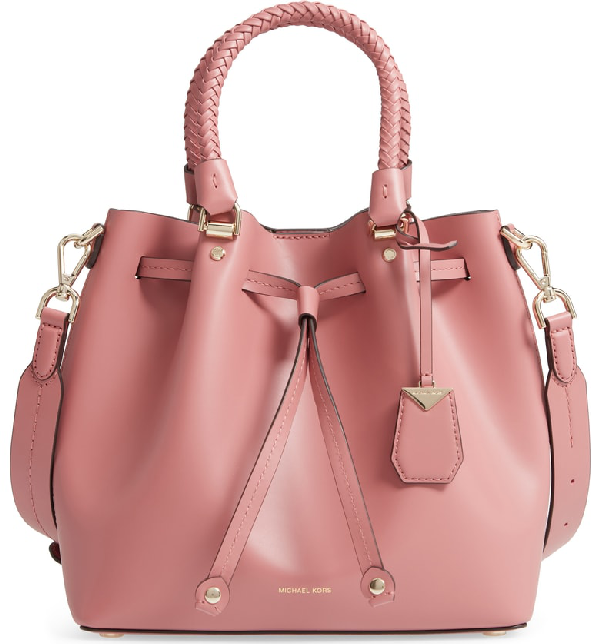 b7aaa7abae98 Michael Michael Kors Blakely Medium Crossbody Bucket Bag In Rose ...