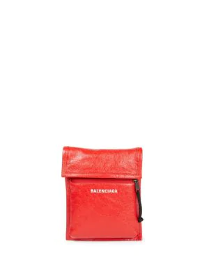 meilleur site web 7762a fea24 Arena Leather Explorer Strap Pouch in Rouge