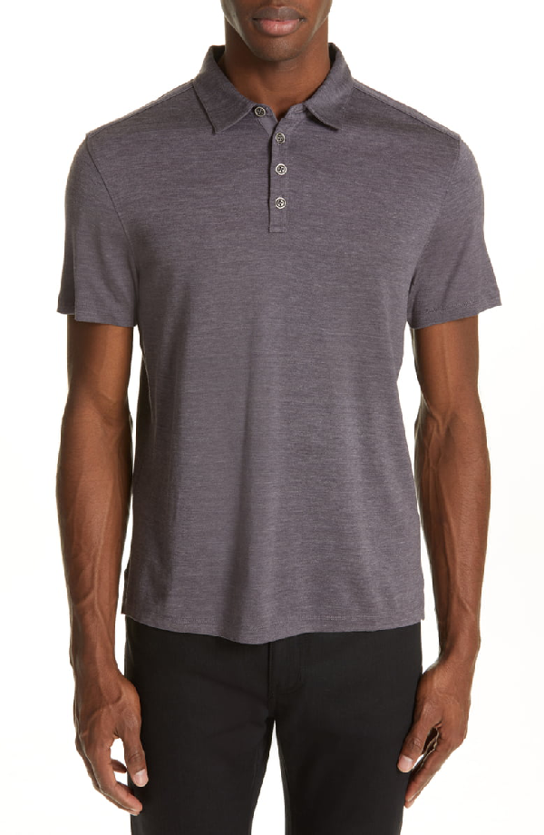 John Varvatos Hampton Slim Fit Polo In Dry Fig