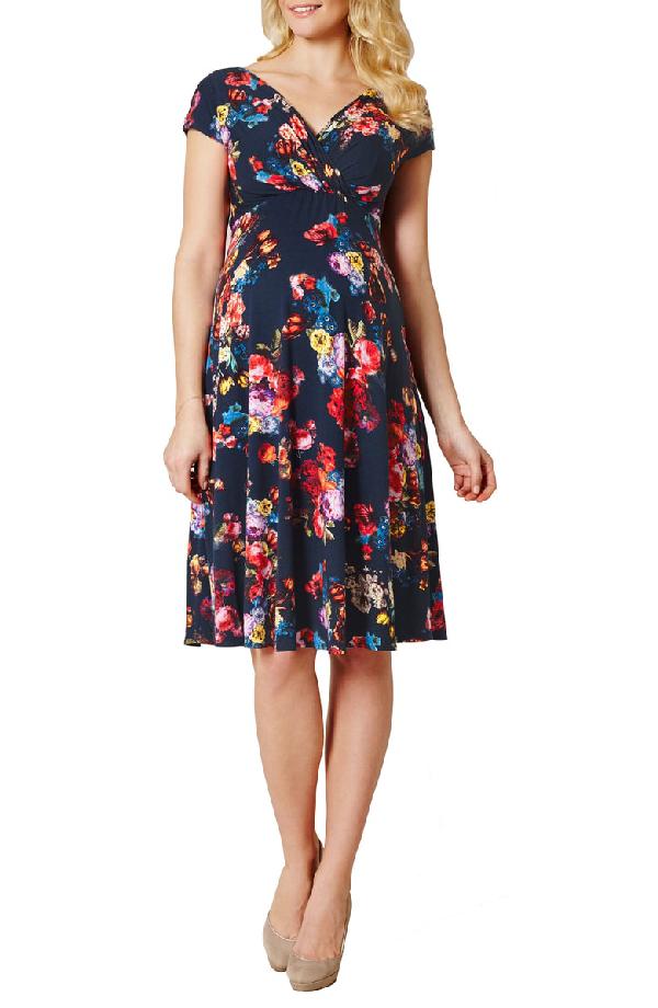 279b01117d64d Tiffany Rose Alessandra Floral Maternity/Nursing Dress In Midnight Garden