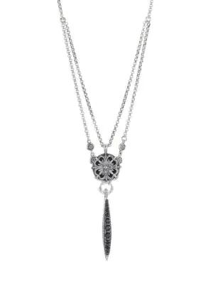 Konstantino Circe Sterling Silver & Black Spinel Necklace