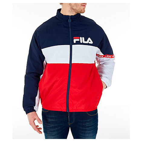 Fila Men's Jayden Full-Zip Jacket In Red Size Medium Nylon/Polyester
