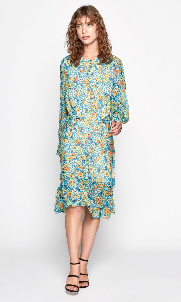 Equipment Magnolia Silk Dress