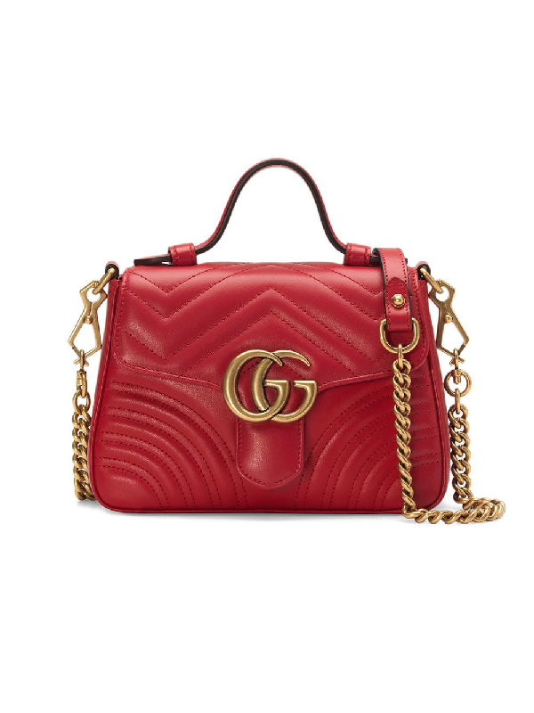 867e8060bb06 Gucci Gg Marmont Mini Top Handle Bag In Red | ModeSens
