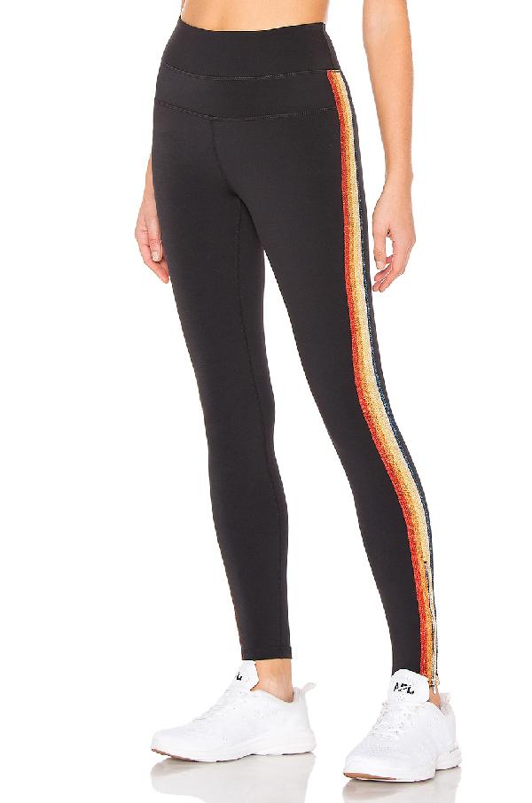 7a52c5dc7fb88 Spiritual Gangster Rainbow Track Stripe Leggings In Black | ModeSens