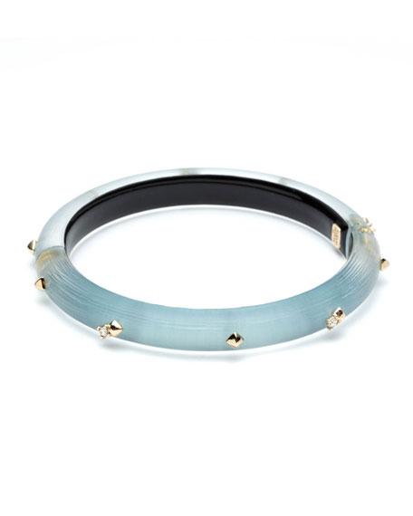 Alexis Bittar Crystal Encrusted Skinny Hinge Bracelet, Blue