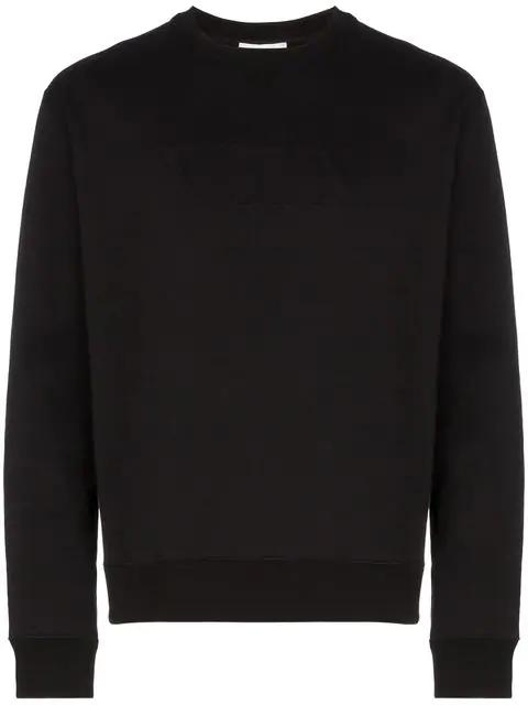 Valentino Rockstud Untitled #8 Cotton-blend Sweatshirt In Black