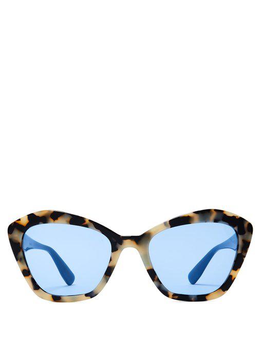 b711a17b5688 Miu Miu - Oversized Cat Eye Sunglasses - Womens - Tortoiseshell ...