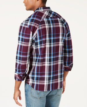 11ee71137e1 Men's Flannel Twill Plaid Shirt, Created For Macy's in Fig