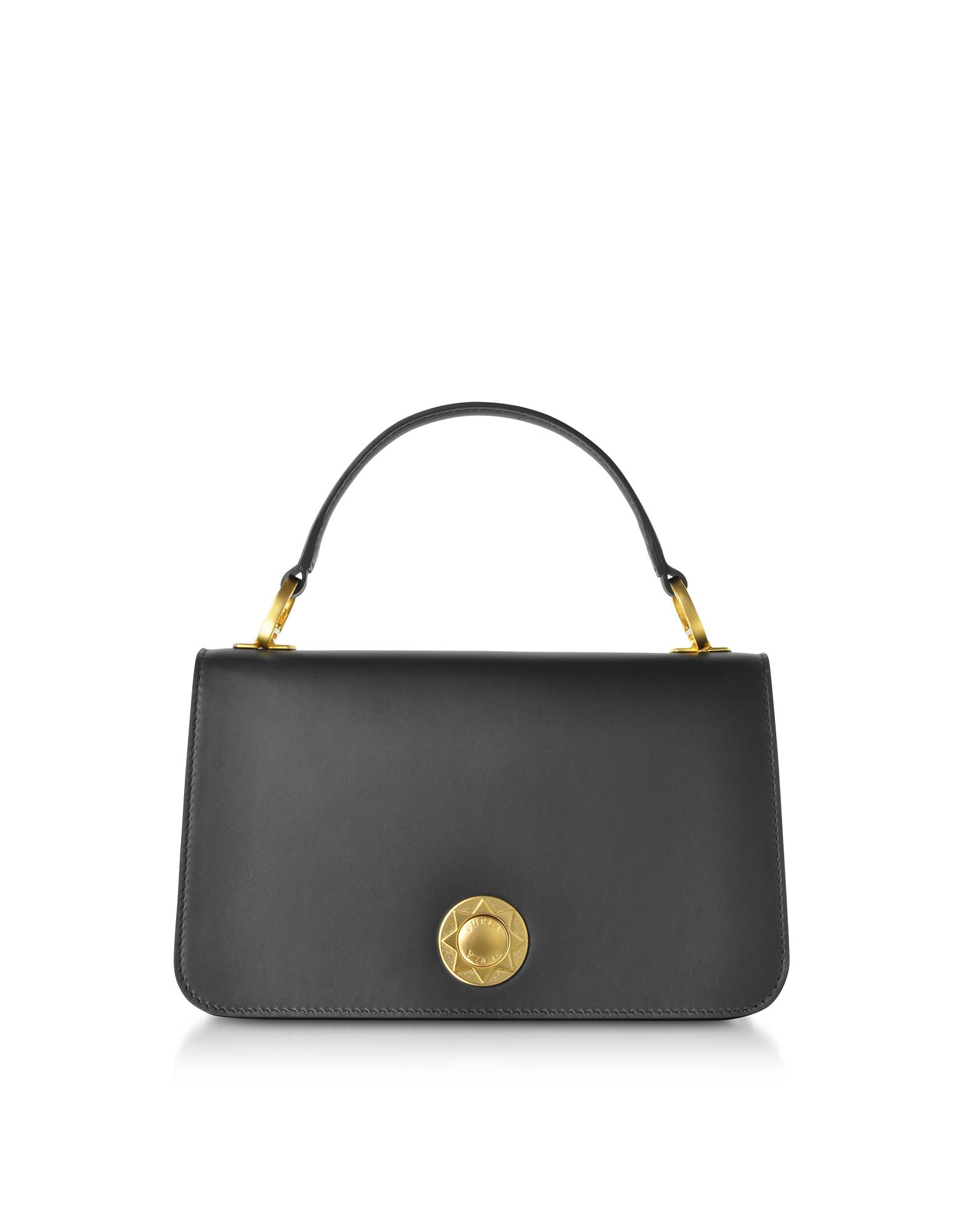 536946ecbb Furla Luna Small Top Handle Bag In Black Onyx | ModeSens