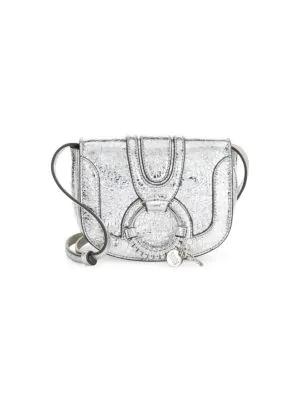2b88ab2b2e07d See By ChloÉ Mini Hana Leather Saddle Bag In Silver | ModeSens