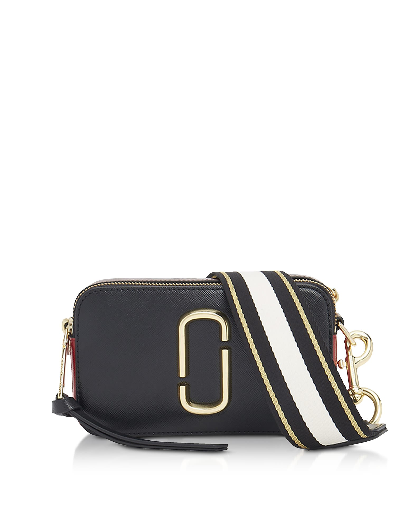 84e308ae0a45 Marc Jacobs Logo Strap Snapshot Camera Bag In Black Red. Italist.com