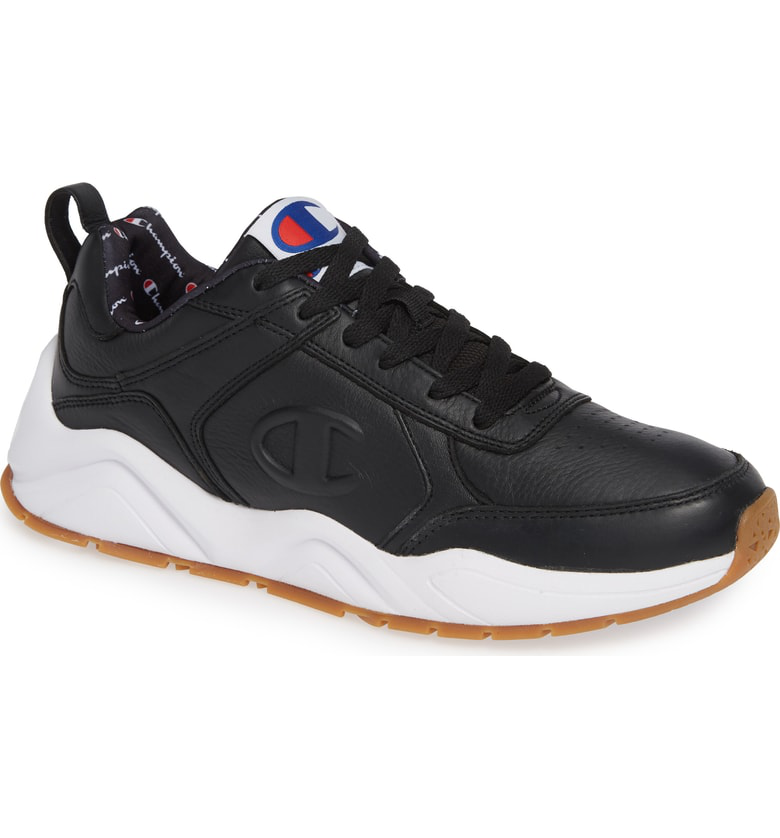 28b71b96f Champion 93Eighteen Sneaker In Black Leather
