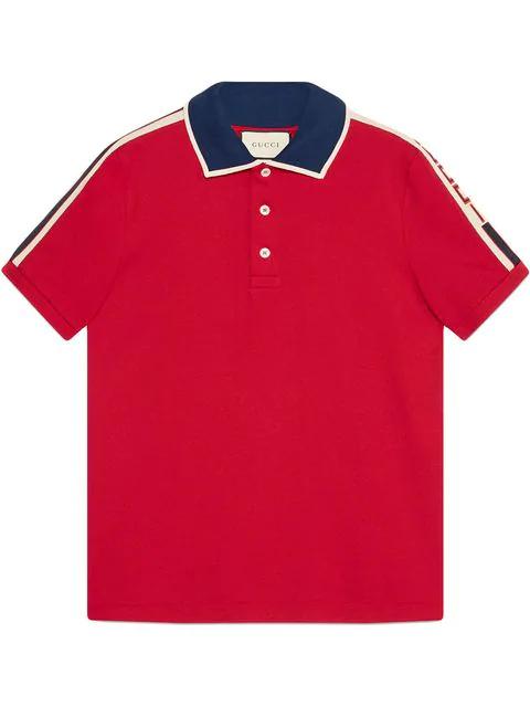 fbeb5a72c Gucci Red Stripe Polo Shirt | ModeSens