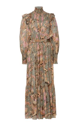 Ulla Johnson Constantine Printed Cotton-Silk Maxi Dress In White