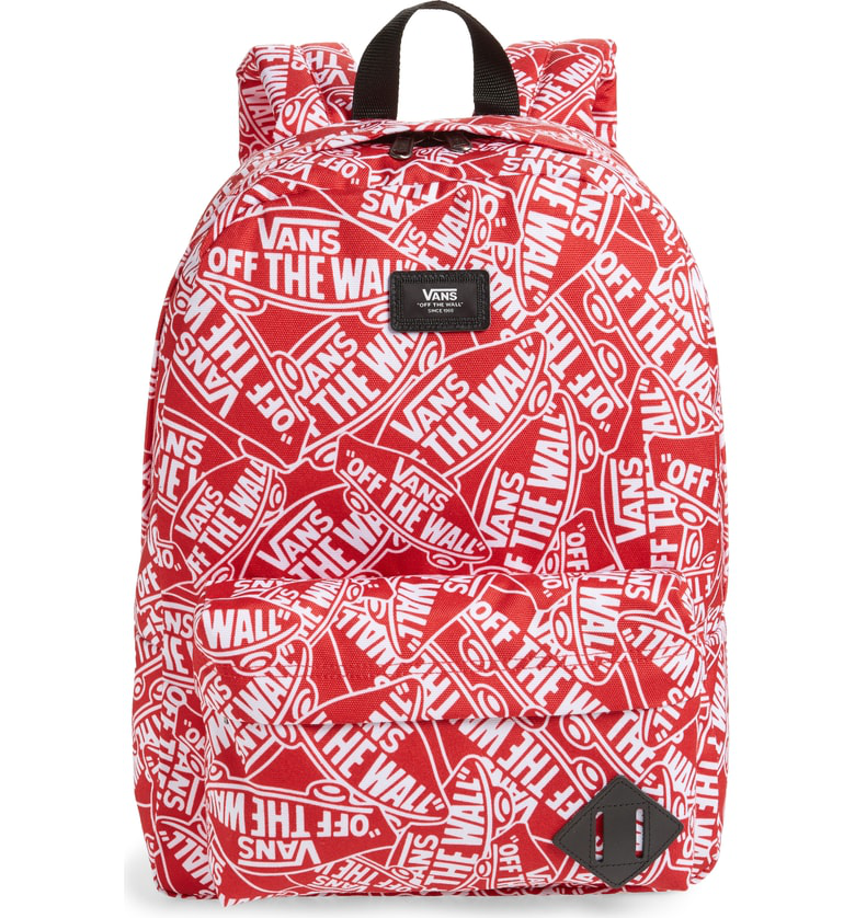 9bf84763e3 Vans Old Skool Ii Off The Wall Water Repellent Backpack In Red ...