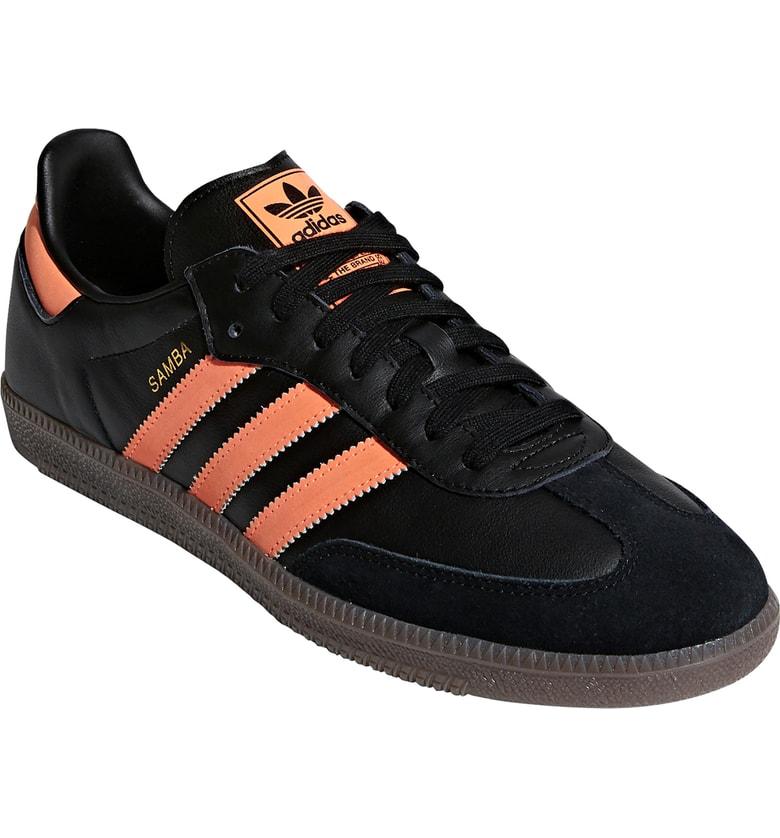 d49e6ab60 Adidas Originals Samba Og Sneaker In Core Black / Orange / Gold ...