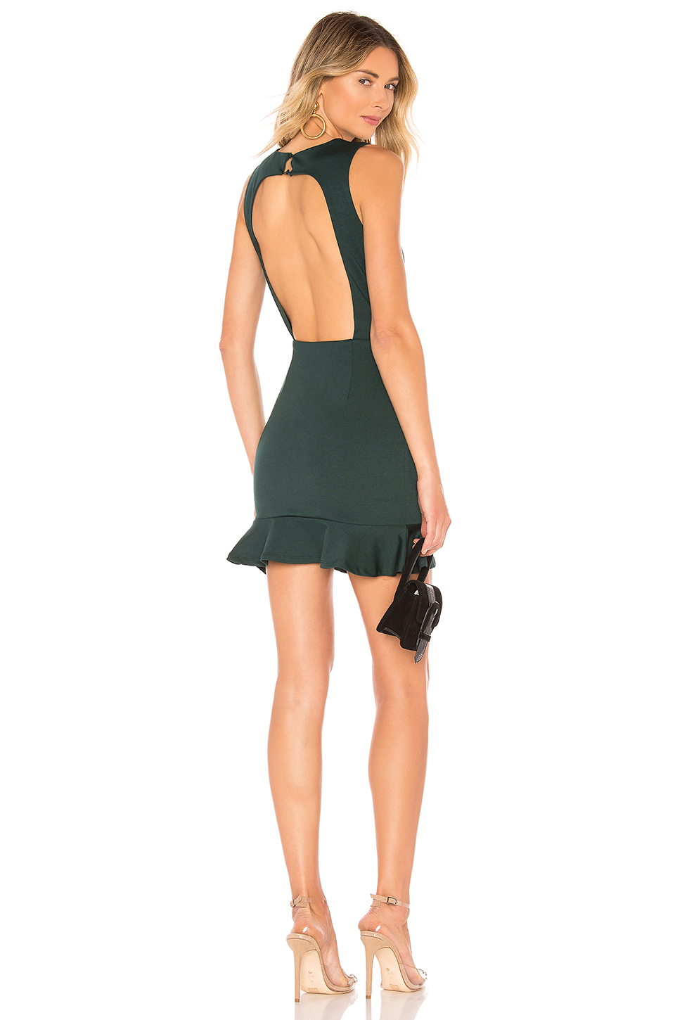 2f993536184e2 About Us Gabbie Mini Dress In Dark Green. In Forrest Green