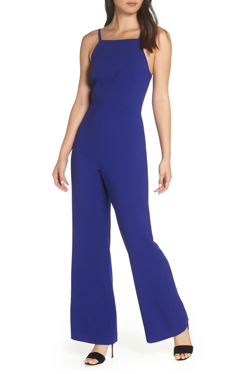 d468978603e French Connection Whisper Halter Neck Jumpsuit In Prince Rocks ...