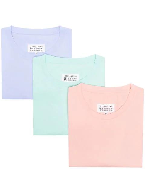 Maison Margiela Stereotype 3 Pack Cotton T In 980 P/C/M
