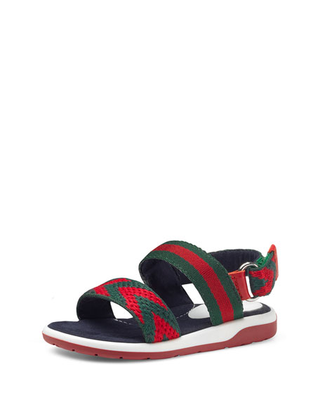 a40d55176 Gucci Chevron Leather Sandals