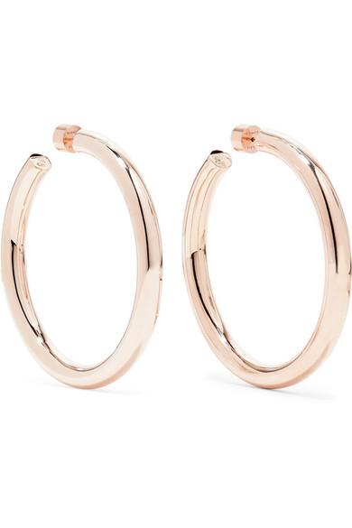 48717ffbd Jennifer Fisher Samira Rose Gold-Plated Hoop Earrings | ModeSens