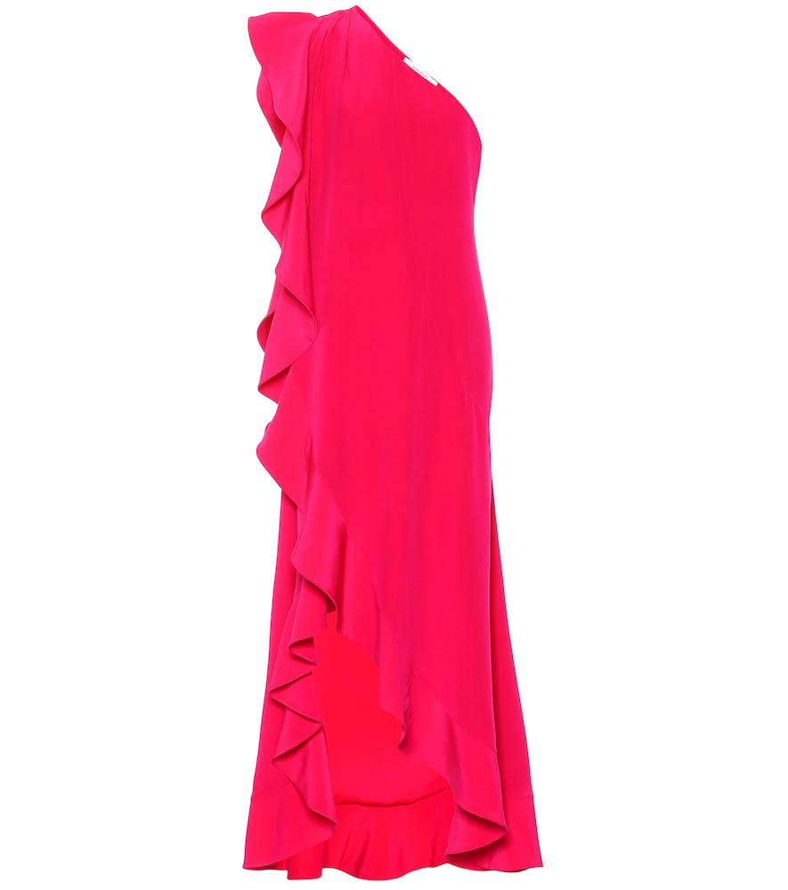 Givenchy Ruffled Silk Dress In Pink