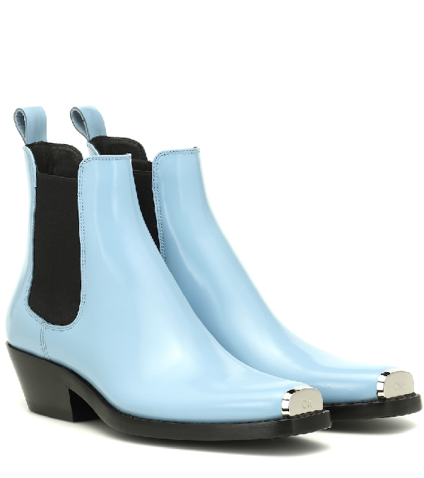 9ddc4420346 Exclusive To Mytheresa – Western Claire Leather Ankle Boots in Blue
