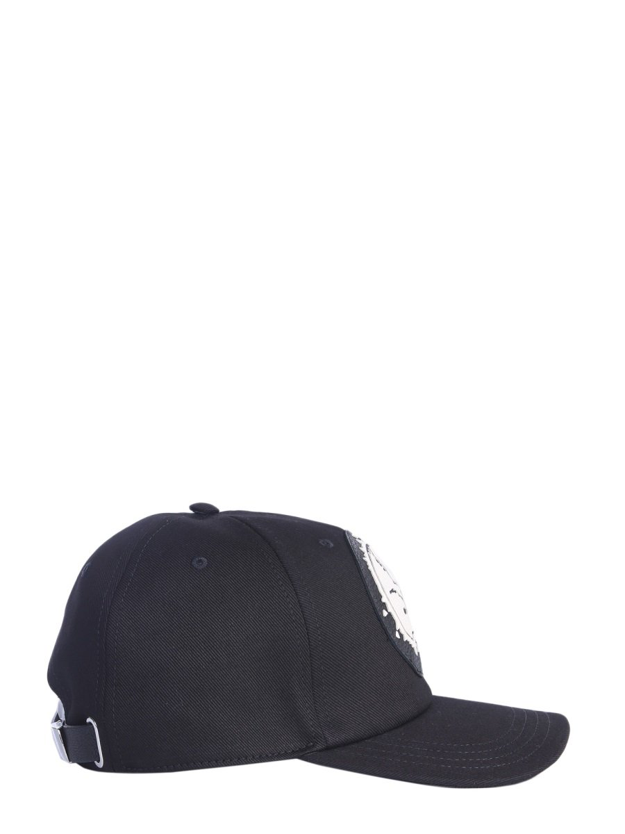 35c9d03c3226b4 Alexander Mcqueen Capello Skull Print Cap In Black | ModeSens