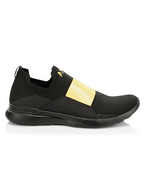 Apl Athletic Propulsion Labs Men's Techloom Bliss Sneakers In Black Racing Yellow
