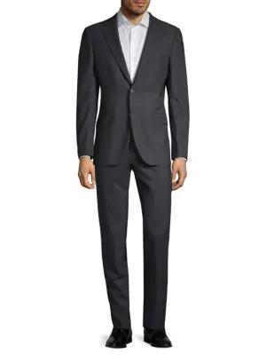 Boglioli Milano Slim Fit Solid Wool Suit In Charcoal