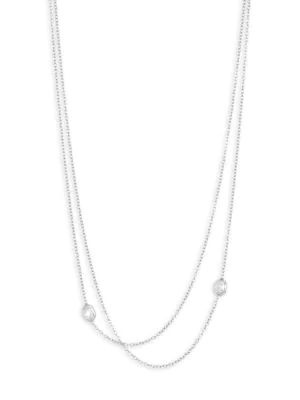 Renee Lewis Women's 18k White Gold & Antique Diamond 2-tier Chain Necklace