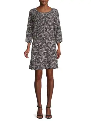 Joie Arryn Printed Dress In Caviar