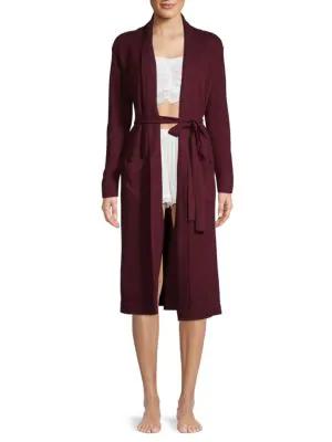 Portolano Luxury Knit Robe In Maroon