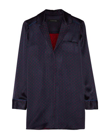 Thakoon Patterned Shirts & Blouses In Dark Blue