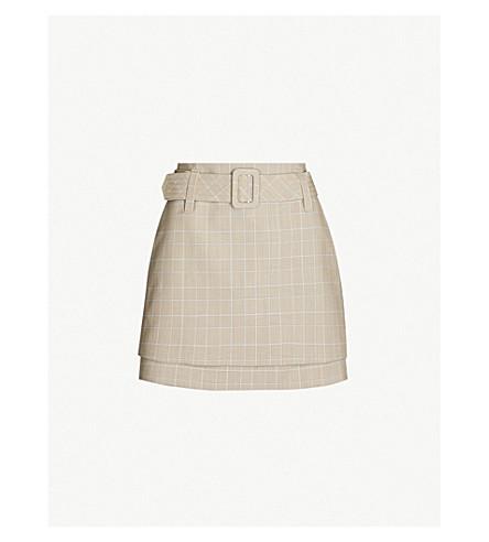 Maje Jikam Checked Woven Mini Skirt In Carreaux