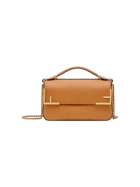 Fendi Double F Shoulder Bag In Brown